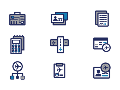 Icon Set set simple flat vector icons
