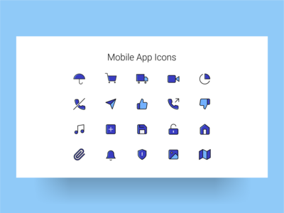 Mobile App Icons