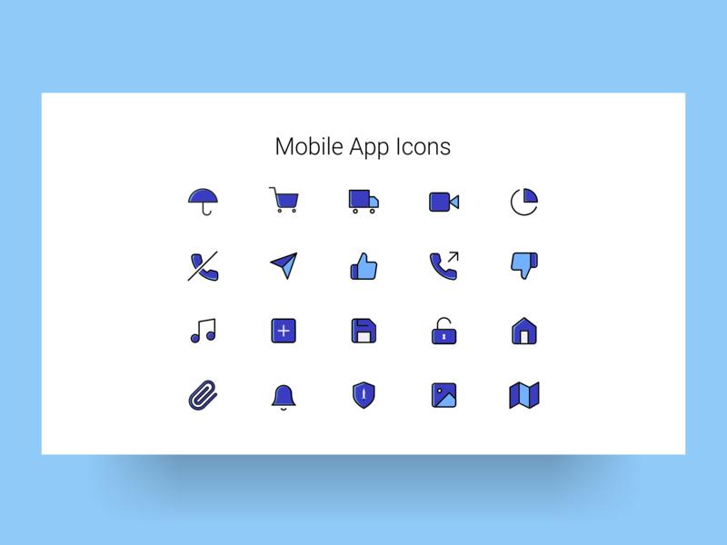 Mobile App Icons ux icon website design ui app ui design