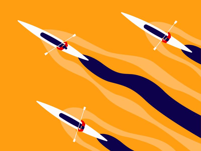 Boat Race vinodraws race river boat visual design graphicdesign illustrator digital illustration flat design flat illustration