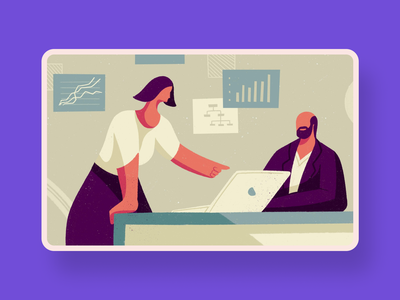 Sell Change to the Management - Blog illustration boss women talking selling marketig change meeting office corporate management people visual design graphic design illustrator illustration