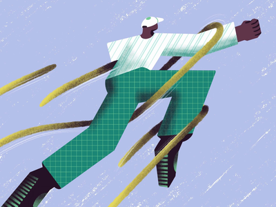 Turning a crisis into a win - Blog illustration achieve failure odds success win hardwork struggling man character adobe illustrator visual design graphic design illustrator illustration