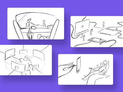 OTT Platform - Blog illustration chilling movies weekend watching video tv ott character graphic design adobe illustrator illustrator illustration
