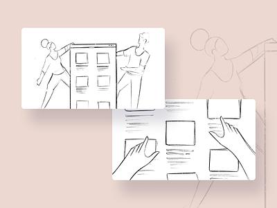 E-Learning - Blog illustration catalog classes tutorial online e-learning boy girl people character graphic design adobe illustrator illustrator illustration