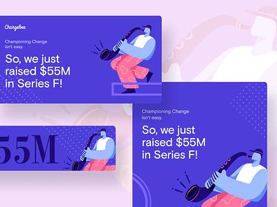 Funding Announcement - illustration celebration music boy fat funding character design flat procreate graphic design illustration
