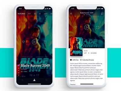 Media App Concept movie poster ios 11 iphone x ux ui iphone ios design film mobile