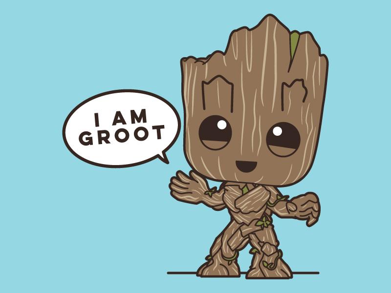 I Am Groot cartoon galaxy decal vector illustration groot