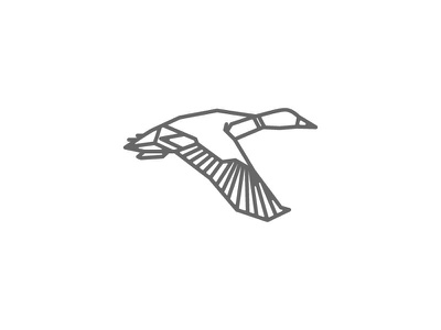 Mallard duck apparel icon logo
