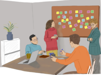 Meeting drawing