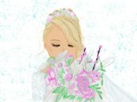 Bride painting!