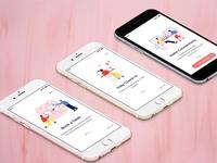 CoWorking space finder Mobile app - Onboarding screens