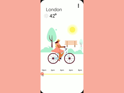 MicroInteractions in Weather app