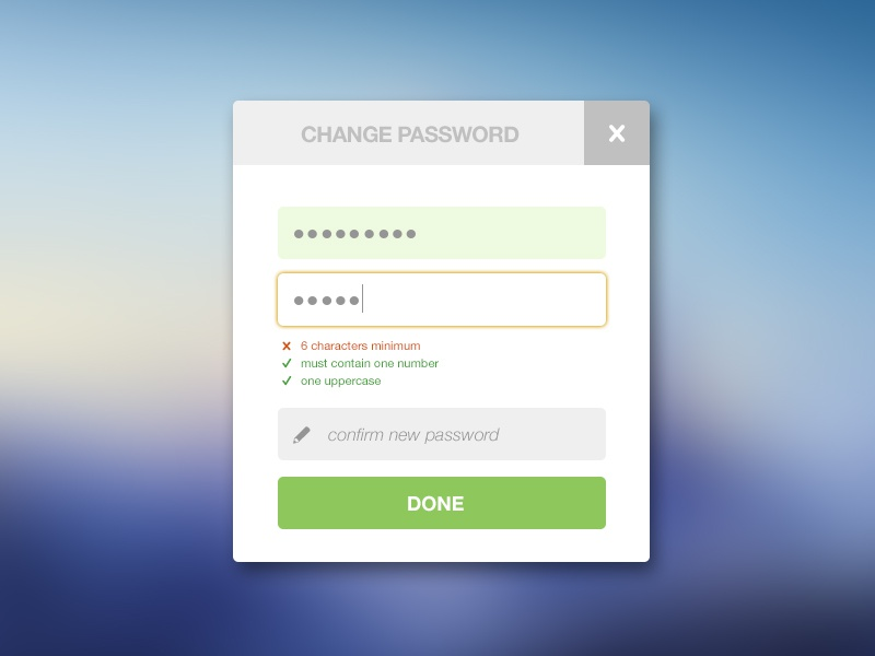 how to change password on face