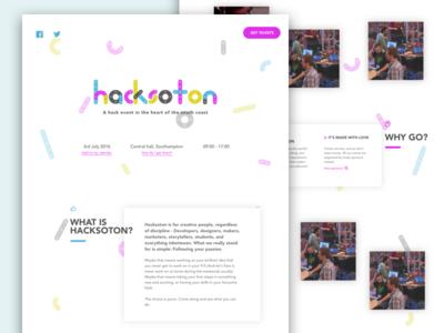 Hacksoton website