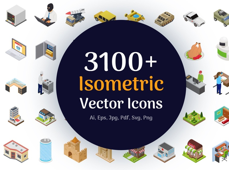 3100+ Isometric Vector Icons startup icon icon isometric illustration isometric design isometric art isometric graphic design flat icons design icons design dashboard branding