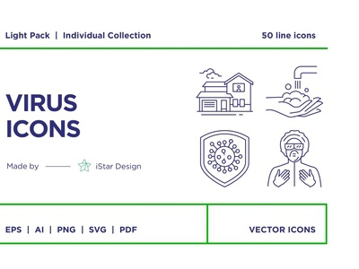 Virus Icons Set social media startup icon icons icons design icon graphic design flat icons design dashboard branding