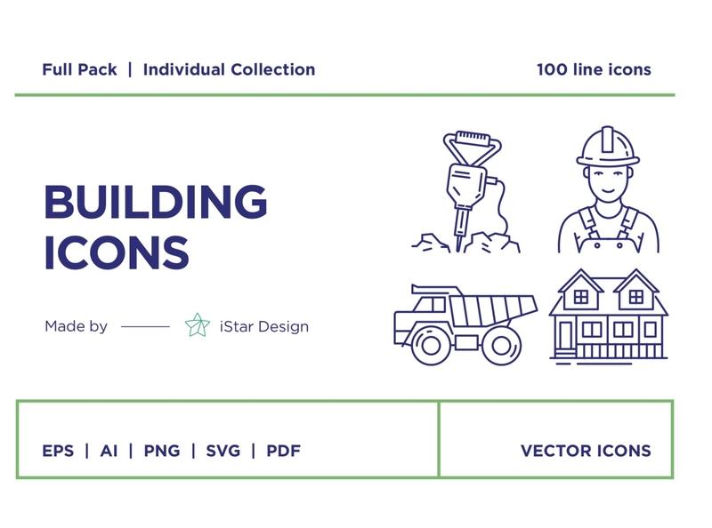 Building and Construction Icons Set logo design flat startup logo branding social media startup icon icons logo illustration icons design icon graphic design flat icons design dashboard branding