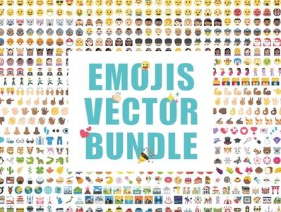 Emoji clipart vector design bundle logo social media startup icon icons icons design icon graphic design flat icons design dashboard branding