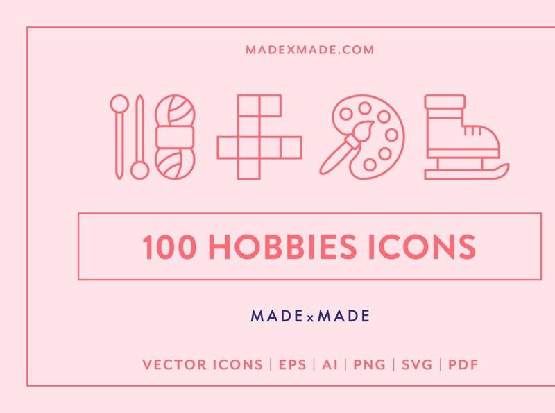 Line Icons – Hobbies Line Icons – Hobbies Line Icons – Hobbies L