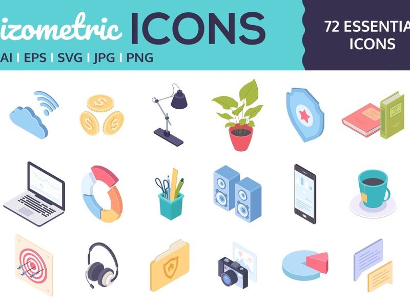 Isometric icons for business