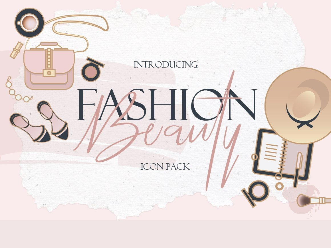 Beauty & Fashion Icon Pack fashion design fashion logo design logo branding flat startup icon startup social media logo icons design icons icon graphic design flat icons design dashboard branding