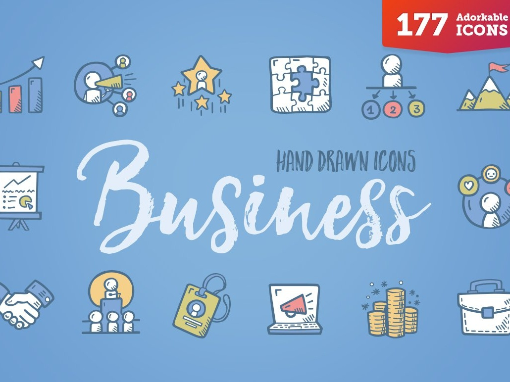 Business Icons - Complete Pack bussines logo design logo branding flat startup icon startup social media logo icons design icons icon graphic design flat icons design dashboard branding
