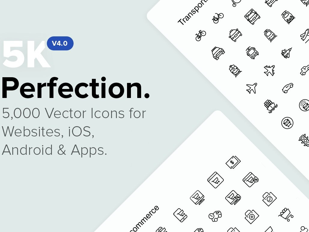 5,000 Perfect Icons. *NEW v4.0 perfect  icons logo design logo branding flat startup icon startup social media logo icons design icons icon graphic design flat icons design dashboard branding