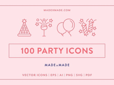 Line Icons – Party