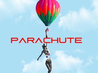 parachute design minimal adobe photoshop collage parachute poster
