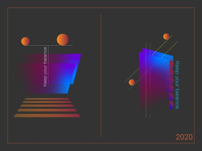 Abstract poster series balance adobe illustrator poster art gradient design illustration abstract poster design