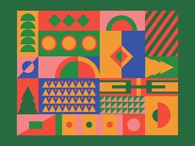 Geometric pattern dribbble art flat poster minimal pattern geometric design geometric adobe illustrator illustration design