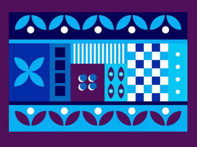 Geometric poster blue purple dribbble art design pattern adobe illustrator illustration poster design geometric