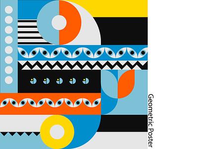 Geometric design posterart poster pattern geometric design dribbble art adobe illustrator geometric design