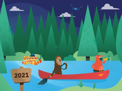 That Conference 2021 Illustration vector woodland animals illustration conference