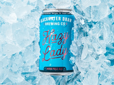 Hazy Lady Can Design design branding type typography beer can candesign packaging
