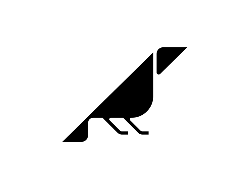 Crow logo geometric logo creative logo raven raven logo crow symbol symbol bird icon bird logo crow crow logo logo creation flat design logos logo design branding логотип лого logo nazariy dudnik logotype