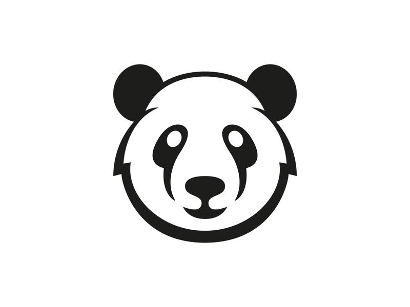 Panda symbol modern logo creative logo animal logo black and white smile logo symbol bear logo panda logo panda logo designer logo design branding логотип лого logo nazariy dudnik logotype