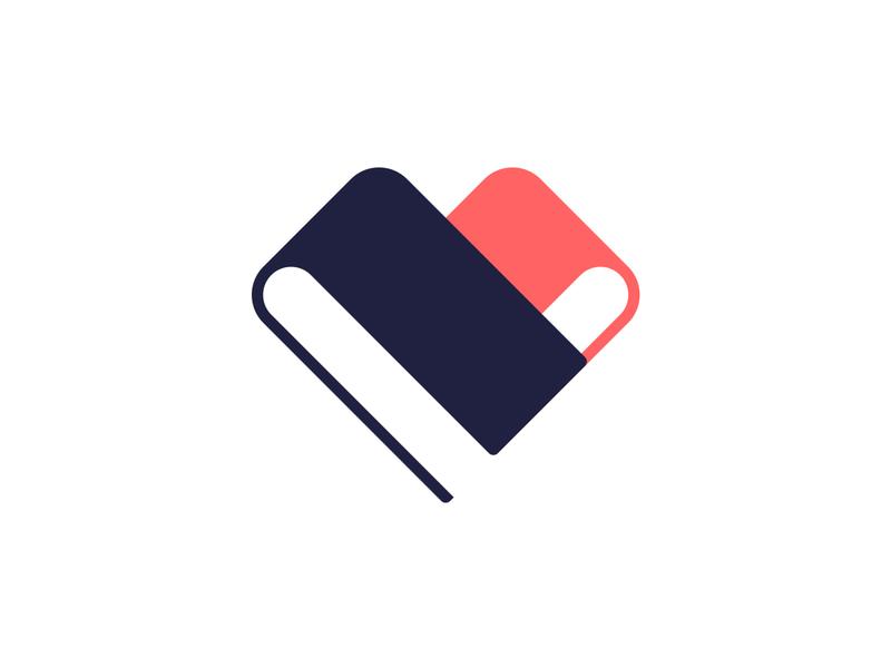 Book lover ukraine logo designer logotype designer book lover love logo love book shop books negative space symbol mark book heart heart logo book logo book flat design logo design лого logo logotype