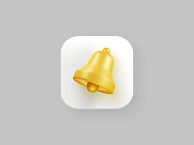 Bell 3D Icon 3d app icon app icon 3d illustrator 3d art 3d blender3d 3d artist web design 3d ilustration render cycles blender 3d blender 3d icon bell web ui