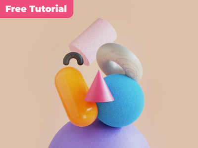 Tutorial / Microsoft Design Avatar in Blender3D 3d artist 3d illustration video cycles render geometry cute tutorial microsoft design 3d render blender3d