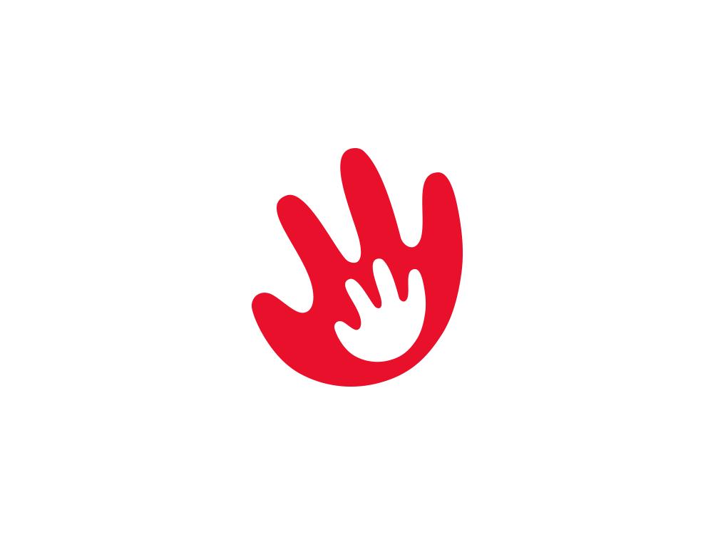 Parenthood / Logo concept children child red logo parents logo child care child care logo child logo parents hand logo hand hands logo designer logotype design logos logo design nazariy dudnik логотип лого logotype logo