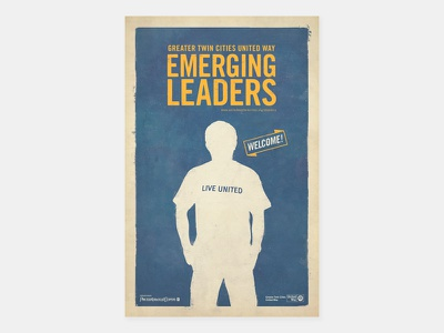 Emerging Leaders Poster print design print welcome minnesota twin cities live united greater twin cities united way united way emerging leaders graphic design silhouette poster