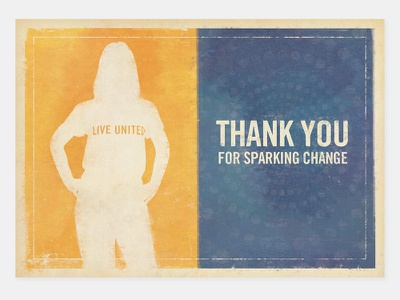 Emerging Leaders Thank You Card print graphic design minnesota twin cities silhouette print design live united united way greater twin cities united way emerging leaders thank you card