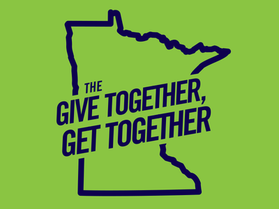 Give Together Get Together twin cities typography greater twin cities united way united way identity design logo print design graphic design give together get together trade gothic thick lines minnesota
