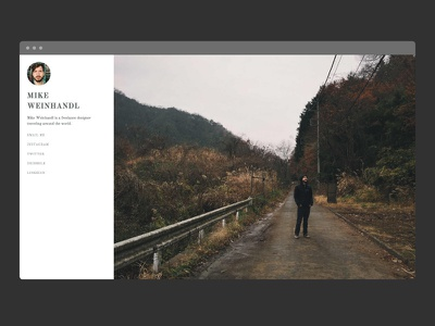 Mike Weinhandl landing page website web design web ui profile portfolio minimal landing page html front end responsive css