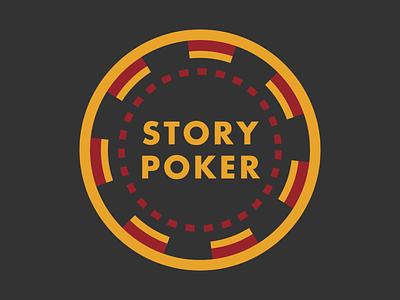 Story Poker Logo comedy brand design identity design identity graphic design story poker chip poker branding typography logo design logo
