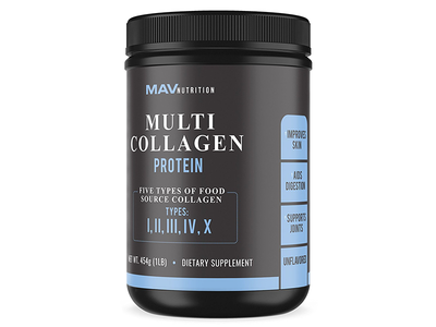 Collagen Supplement Label Design