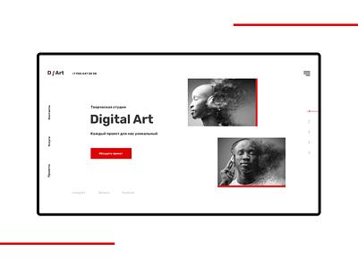 Digital Studio design modern landing landingpage ux ui studio concept uiux clean ui minimal digital studio digital art