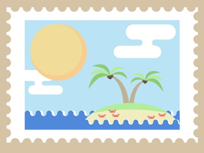 Stamp Rave envelope stamp illustration design