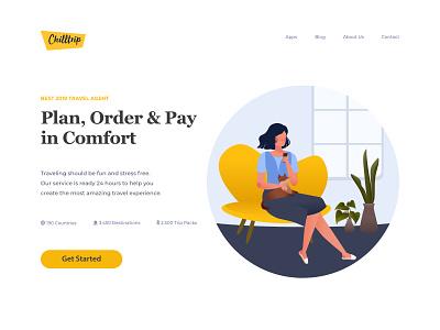 Chilltrip Website Design by Halleywine travel website flat illustration website design ui design illustration design